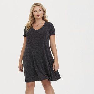 Torrid | 1 | Grey V-Neck Sweater Dress